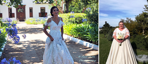 Durban bride wedding dress