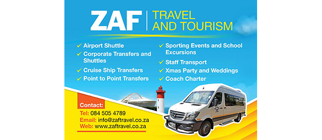 Zaf Travel And Tourism - Shuttle Operating Service - Durban